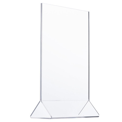 TWING Clear Plastic Table Menu Stand, Card Display, Upright Ad Photo Frame, Sign