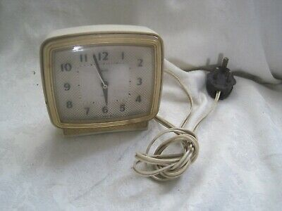 Vintage RARE Alarm Clock by SMITHS Sectric MAINS Electric ENGLAND Alarm 1960s