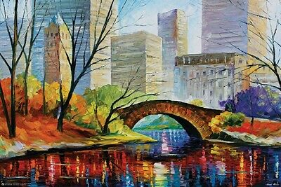CENTRAL PARK - LEONID AFREMOV ART POSTER - 24x36 NEW YORK CITY NYC 11585