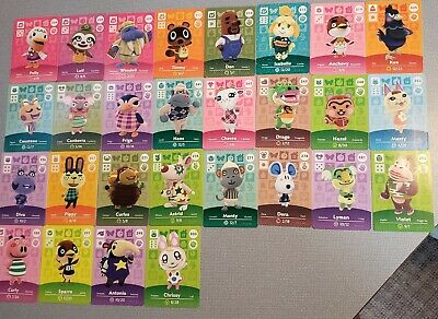 Animal Crossing Amiibo Cards Series 1, 2, 3, and 4! Mint condition. U.S. version