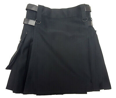 Black Canvas Utility Kilts - In-Stock Special