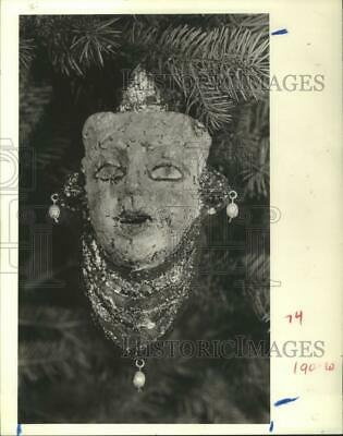 1985 Press Photo Richard Soler's mask at Contemporary Arts Museum in Houston