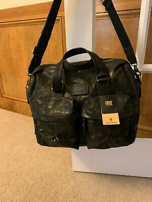 Frye Scout Waxed Canvas Overnighter Tote Bag