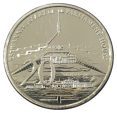 Australia 2013 25th Anniversary of Parliament House 20c Cents UNC Coin Carded