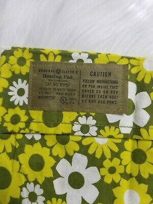 Vintage General Electric GE Heating Pad Cover Only Floral