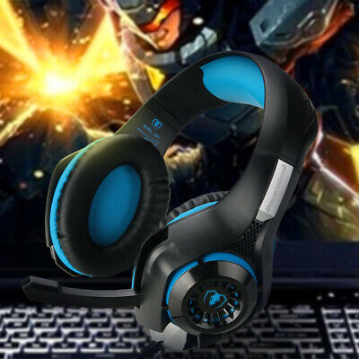 Pro Gaming Headset W/ Mic XBOX One Wireless PS4 Headphones Microphone Beat BLUE
