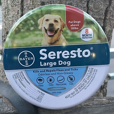 Bayer Seresto flea and tick collar for large dogs,new,sealed,supply for 8 months