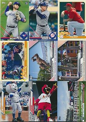 2020 Topps Opening Day Baseball STICKER, SPRING SPRUNG, MASCOT + Pick From List