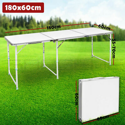 1.8M 6FT New Catering Camping Heavy Duty Folding Table Trestle Picnic Party BBQ