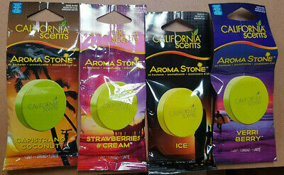 California Scents Aroma Stones Car Air Fresheners x 4 Assorted