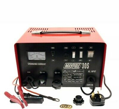 MAYPOLE MP730 20A Metal 12 / 24 Volt Battery Charger