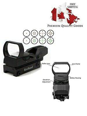 Tactical 4 Reticle Red Dot Open Reflex Sight with Weaver-Picatinny Rail