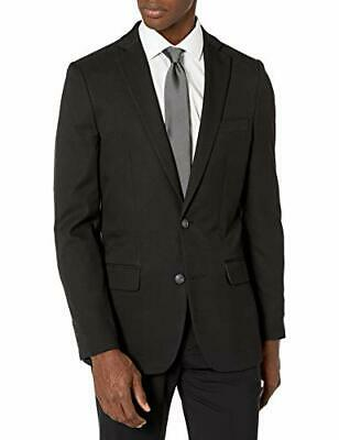Haggar Men's Stretch Gab Slim Fit 2-Button Suit Separate, Black, Size 44 Regular