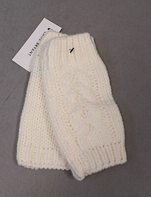 Lane Bryant Women's Cable Knit Fingerless Gloves SH3 Ivory One Size NWT