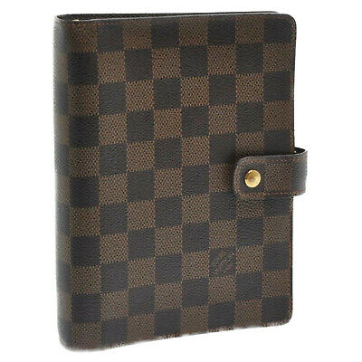 LOUIS VUITTON Damier Agenda MM Day Planner Cover R20701 LV Auth sa852