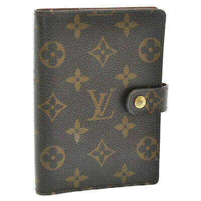 LOUIS VUITTON Monogram Agenda PM Day Planner Cover R20005 LV Auth ti033