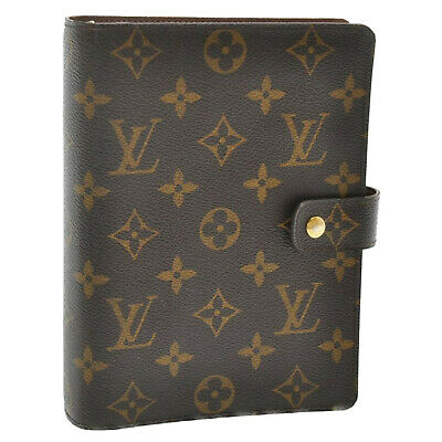 LOUIS VUITTON Monogram Agenda MM Day Planner Cover R20105 LV Auth sa898