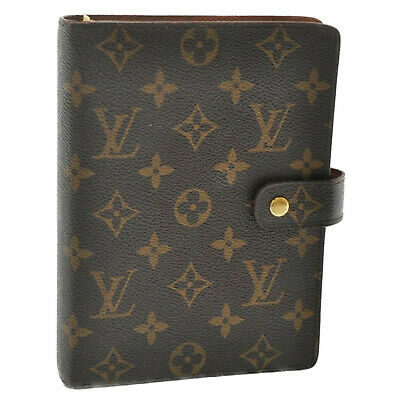 LOUIS VUITTON Monogram Agenda MM Day Planner Cover R20105 LV Auth ar2128