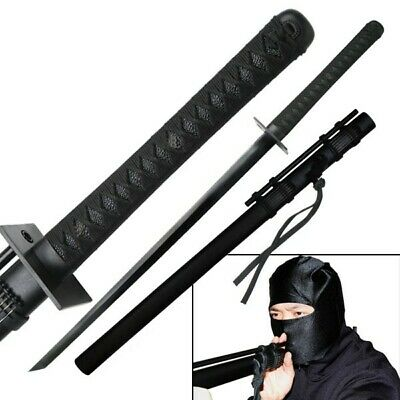 Ninja Sword Japanese Straight Blade Katana with 12 Blow Darts