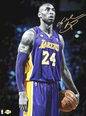 Kobe Bryant Signature Lakers Poster NEW 24 x 36 LIMITED EDITION / USA Seller