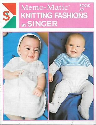 Vintage Singer memo matic knitting machine pattern book 69 baby infant jumpers