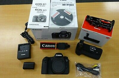 Canon EOS 6D Body Only with Genuine BG-E13 Grip - Excellent - All Boxed