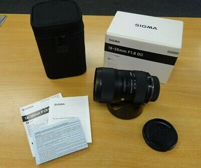 Sigma DC 18-35mm F1.8 HSM DC - Nikon Fit - Good Condition with Box / Hood