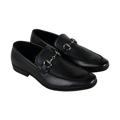 Unlisted by Kenneth Cole Design 303021 Mens Black Dress Slip On Loafers Shoes