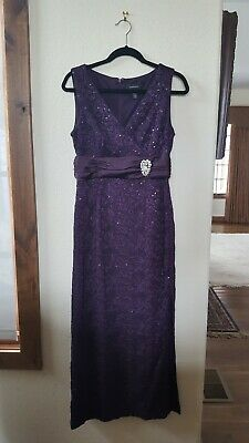 New Rm Richards Maxi Purple Dress Size 10