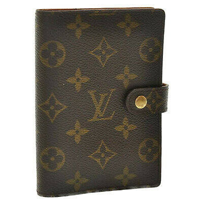 LOUIS VUITTON Monogram Agenda PM Day Planner Cover R20005 LV Auth oh148