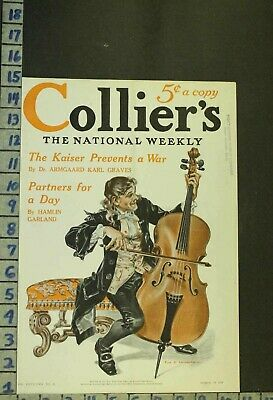 1914 Music Instrument String Cello Orchestra Illus Leyendecker Cover Rg61