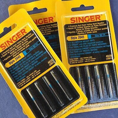 Genuine NEEDLES BALL POINT for KNITS  845R  S2045  100//16 SINGER