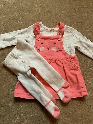NWT Carters Baby Girls 3 Piece Floral Tee /& Bunny Jumper Dress EASTER 3 or 6 Mo.