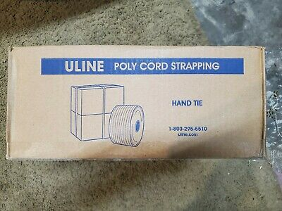 "Uline 5/8"" Strapping 3000 Feet Polycord S-6434 850lbs"