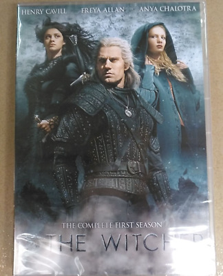 The Witcher DVD Season 1 The Complete First Season For US DVD Player Region 1