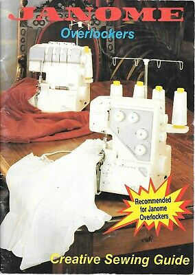 Janome overlockers creative sewing guide great for beginners PB book serging