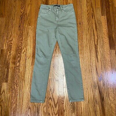 Calvin Klein Womens Jeans Contour Skinny Fit Green Size 4 Pre-Owned Fast Ship