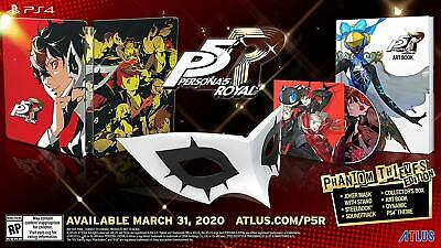 READY TO SHIP | Persona 5 Royal Phantom Thieves or Steelbook Launch Edition PS4