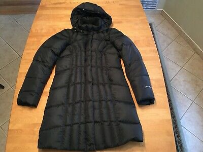 Eddie Bauer Lodge Down 650 Fill Parka Sm.perfect Cond.blk.faux Fur Missing,Warm!