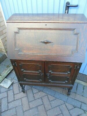 """Antique Vintage Bureau """"arts & crafts"""" style ? - COLLECT or Poss Local Delivery"""