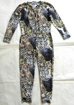 Molo Aura Wild Cats Girls Jumpsuit Size 10 (134/140) Age 9-10