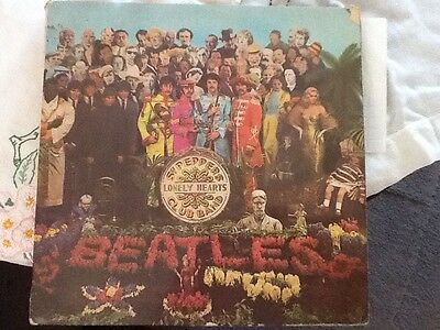 Beatles vinyl album Sgt Peppers Lonely Hearts Club Band playtested KT Stamper