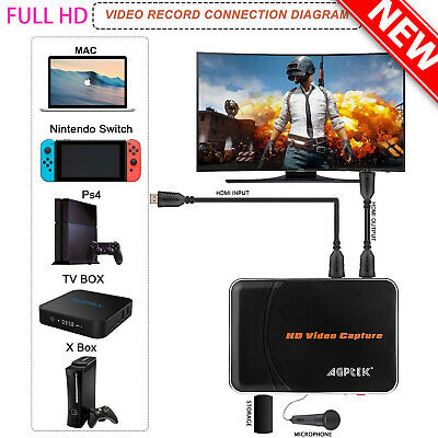 HD Game Capture HD Video Capture 1080P HDMI Recorder for Xbox 360&One PS3 PS4