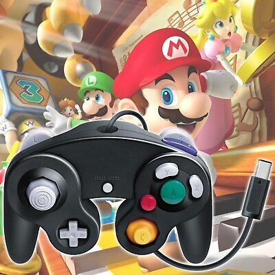 Wired Classic Black Controller Gamepad for Nintendo GameCube GC & Wii Console