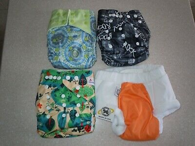 4 NEW reusable cloth diapers ALVA Baby Hi Sprout Baby Newborn