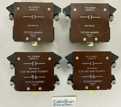 (Lot Of 4) Cutler - Hammer Auxiliary Contacts (2) C320Kb8, (2) C320Kb7 *Warranty