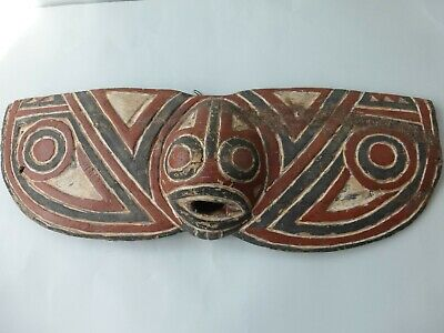 Ethnographic -Carved Wooden Polychrome Carving Probably N.w. Coast Indian