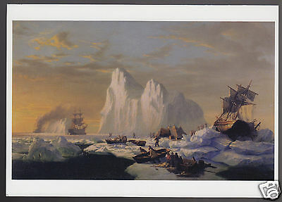 WILLIAM BRADFORD Caught In The Ice Floes 1867 ART GREETING NOTE CARD New Unused