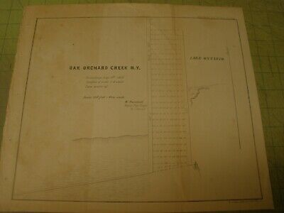 1854 Oak Orchard Creek, NY  Sounding Map//sketch/survey