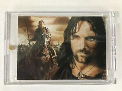 2013 Signed LORD OF THE RINGS Artist Sketch Card Aragorn